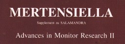 Mertensiella Band 11: Advances in Monitor Research II