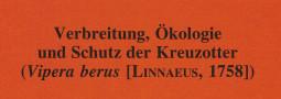 Mertensiella Band 15: Verbreitung, Ökologie und Schutz der Kreuzotter