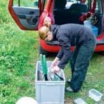 Gerade im Freiland sind strikte Hygiene und eine Desinfektion der Fangmaterialien unbedingt wichtig Foto: B. Schmidt