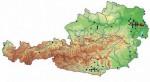 Verbreitung der Europäischen Sumpfschildkröte (Emys orbicularis) in Österreich: Nachweise ab 1980; bei den rot hinterlegten Fundpunkten handelt es sich um regelmäßig reproduzierende Bestände (Quelle: Herpetofaunistische Datenbank, Naturhistorisches Museum Wien)
