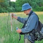 Auf der Suche nach besenderten Tieren – Telemetrie; Foto: I. Tetzlaff