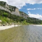 Lebensraum Pelophylax kl. grafi, Fluss Gardon bei Collias, Gorges du Gardon, Département Gard, Languedoc-Roussillon, 11.04.2012, Foto A.+Ch. Nöllert.