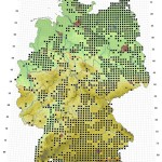 Verbreitungskarte europäischer Laubfrosch – Hyla arborea (Linnaeus, 1758)