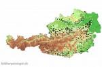Verbreitung in Österreich. Weiß: Nachweise bis 2000; schwarz: Nachweise ab 2001. Quelle: Herpetofaunistische Datenbank, Naturhistorisches Museum Wien.