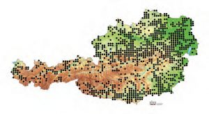 Verbreitung der Blindschleiche in Österreich. Quelle: Herpetofaunistische Datenbank, Naturhistorisches Museum Wien.